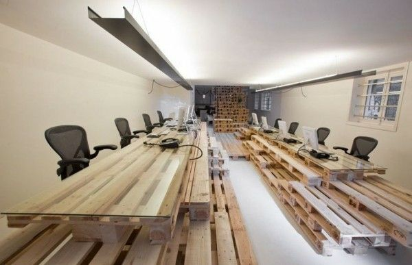 Einzigartige Büro Einrichtung Holz Paletten Möbel