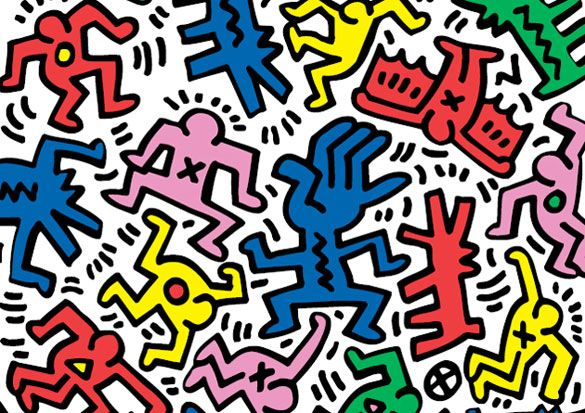 Keith Haring Was Best Known For His Graffiti Inspired Drawings Which Were First Made In Subway Stations Description Keith Haring Art Haring Art Keith Haring