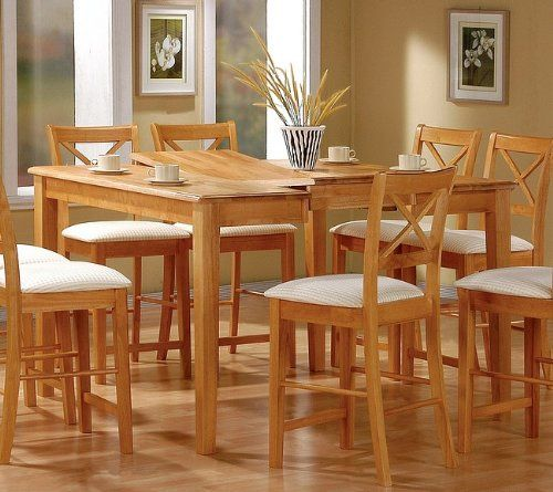 Coaster Dining Table With Butterfly Leaf Counter Height Maple