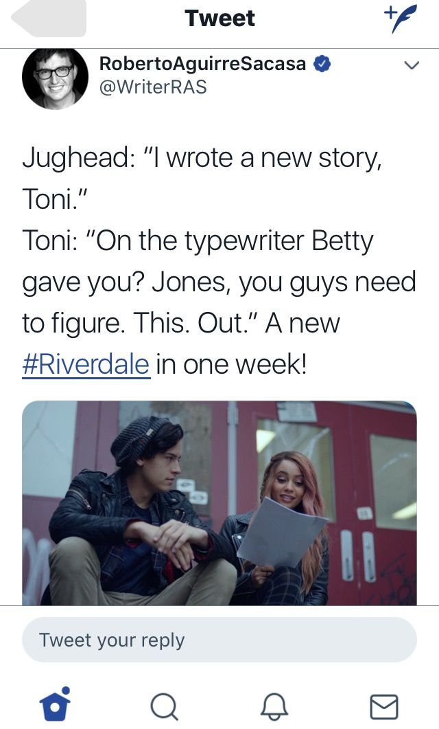 THE CREATOR OF RIVERDALE TWEETED! #bughead #bugheadforever