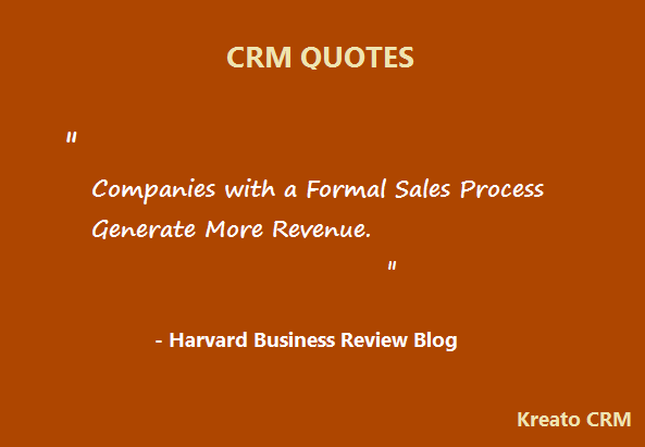 Crm Quote Extraordinary Kreato Crm Helps To Define And Implement Formal Sales Process With