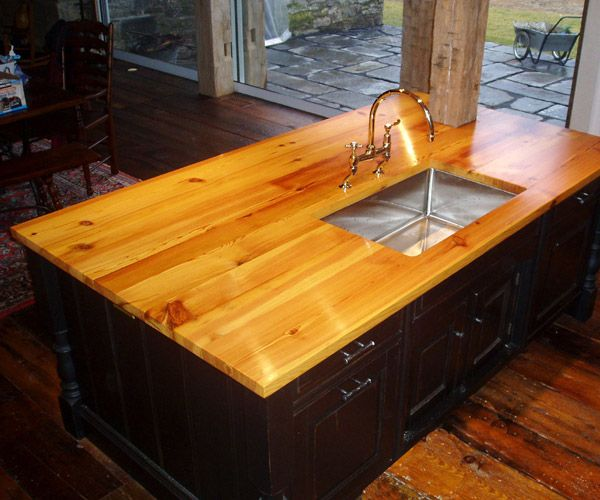 All About Heart Pine Wood Countertops Wood Countertops Kitchen Countertops Island Countertops
