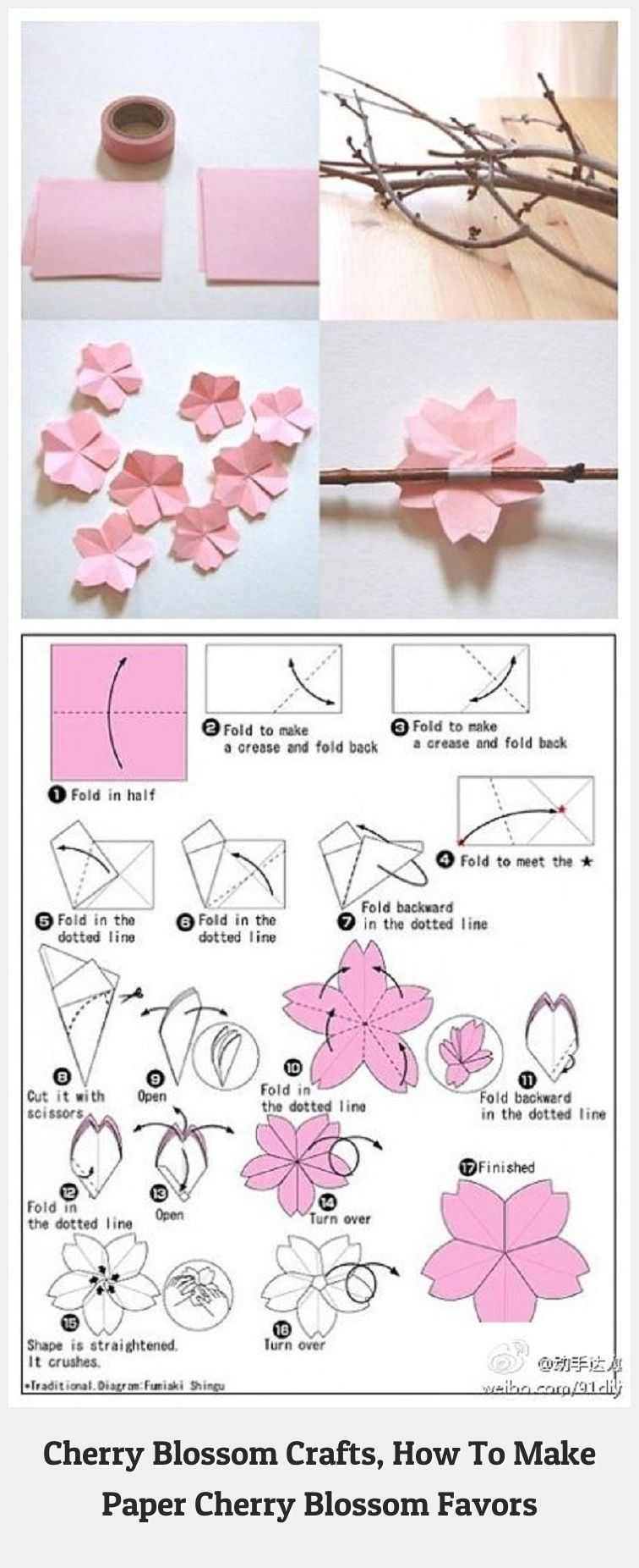Cherry Blossoms 88295 The Cherry Blossom Theme For Weddings And Parties Is A Lovely One We Have A Few Diy Che Paper Flowers Paper Crafts Cherry Blossom Theme