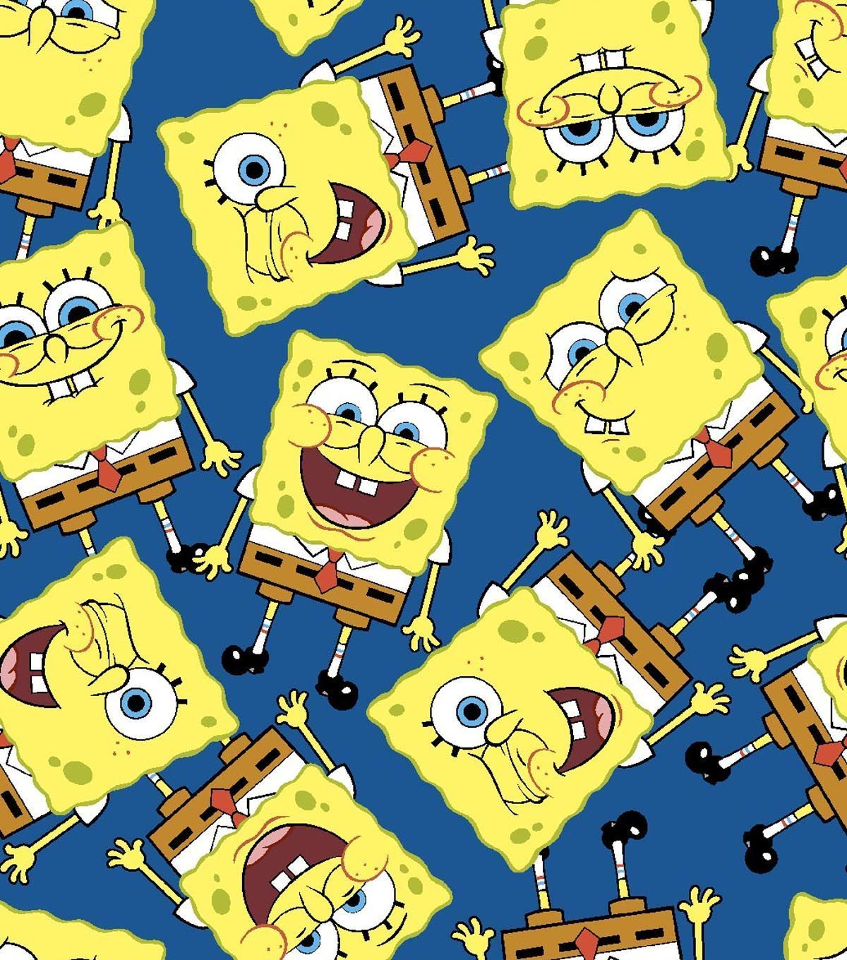 Nickelodeon Spongebob Packed Cotton Fabric Spongebob Cotton And