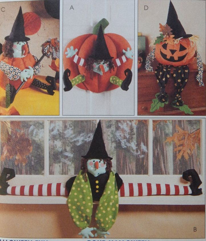 Halloween Decorations Sewing Pattern for Wall Hanging,Draft Dodger - patterns for halloween decorations