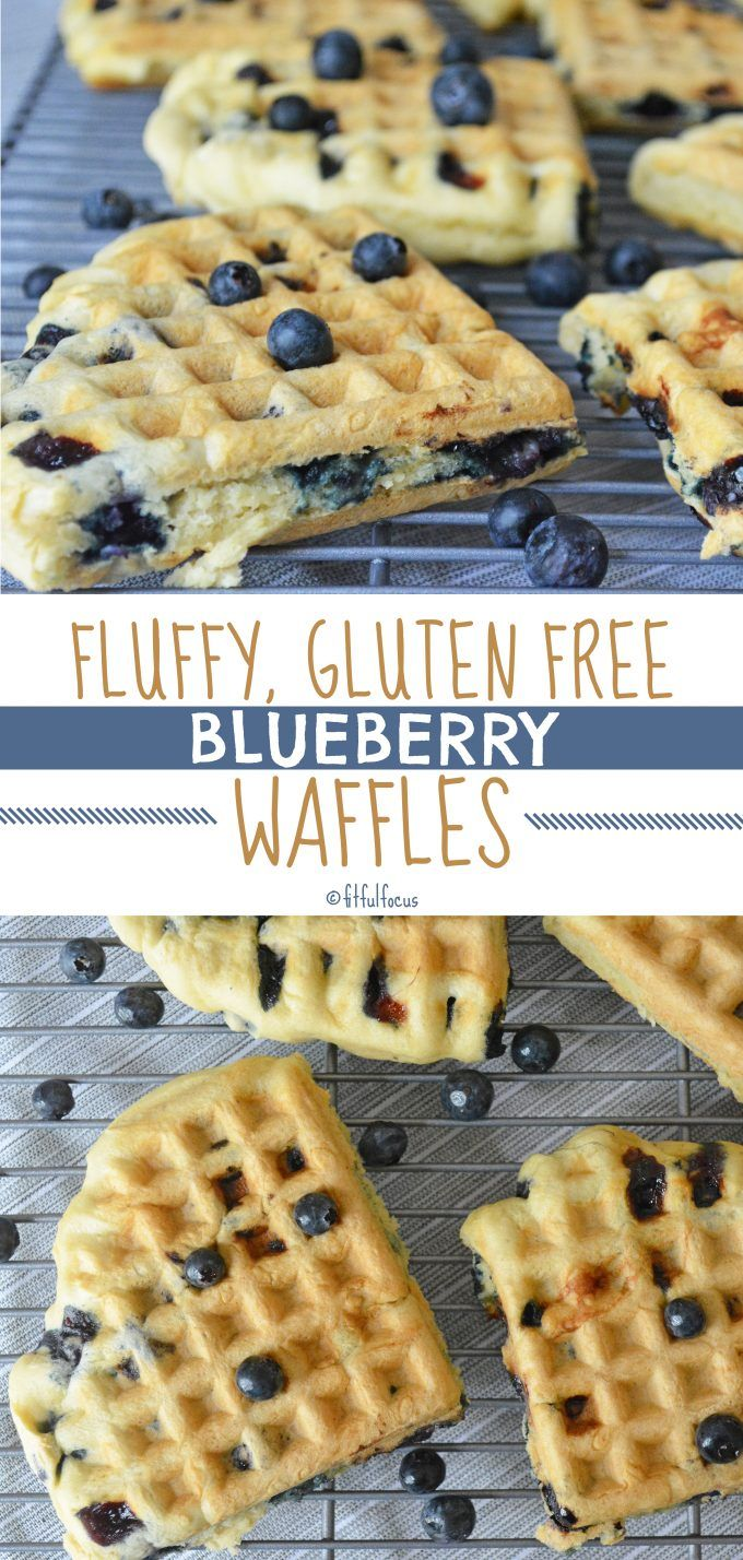 Fluffy Gluten Free Blueberry Waffles images