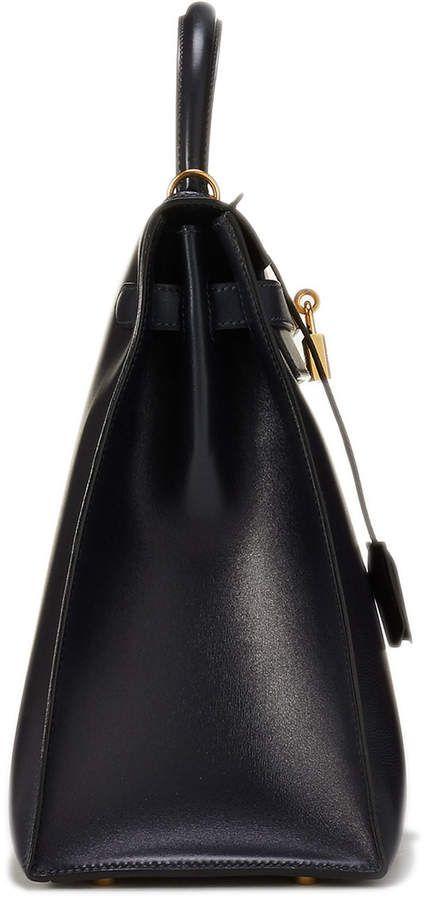 fc9cc3950e67 Hermes Vintage Kelly 35 Chevre Satchel Bag