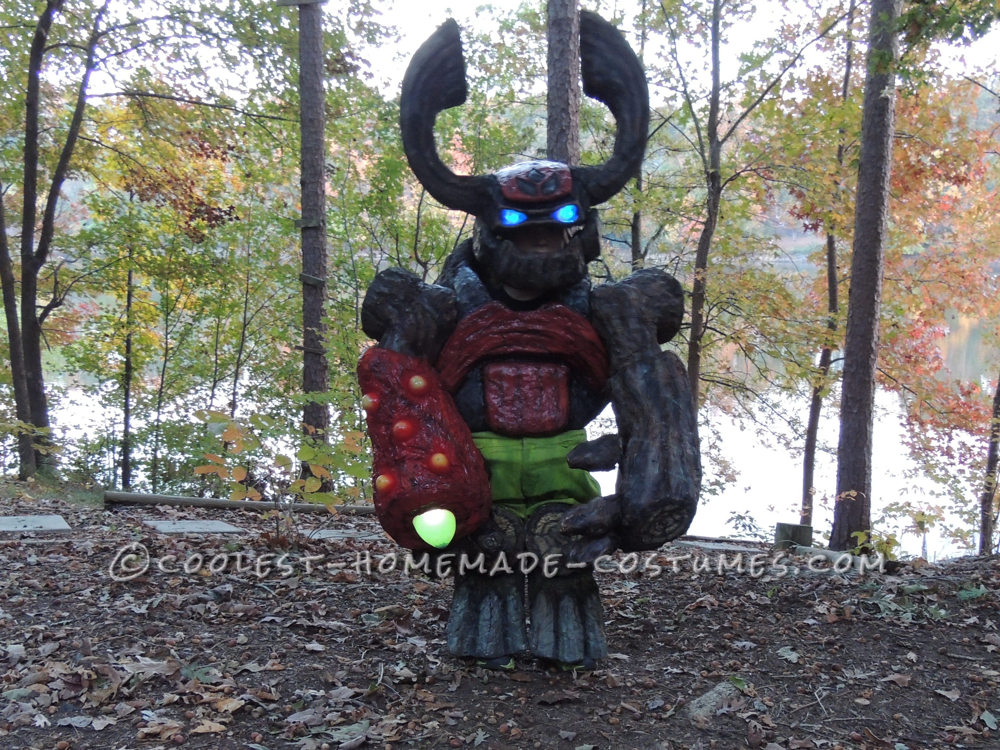 Awesome Tree Rex Skylanders Costume For A 5 Year Old Boy
