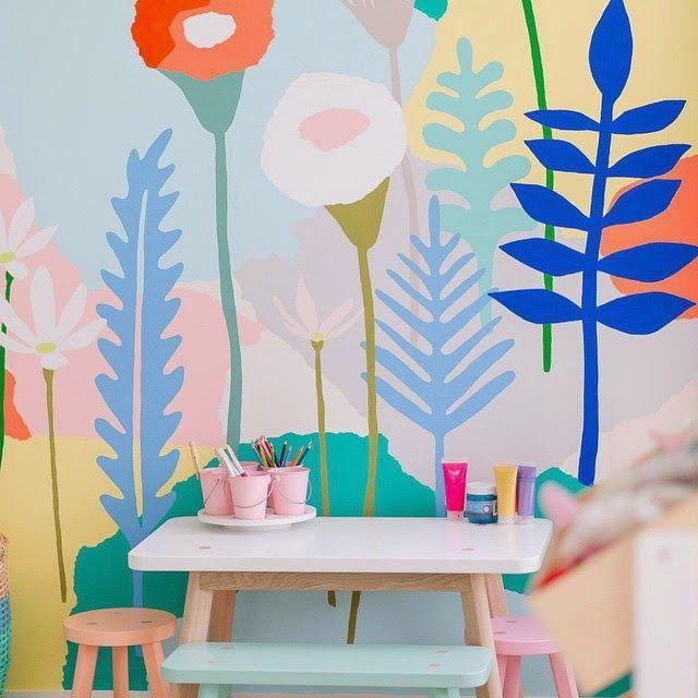 9eaa4ddf6aa Χαρούμενο Παιδικό Δωμάτιο | kids spaces | Pintura paredes, Muro ...