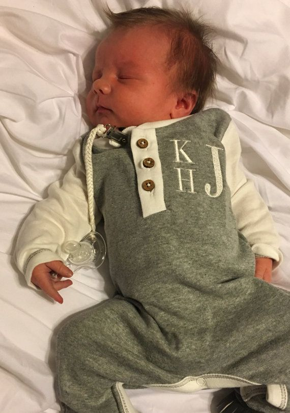Baby Boy Organic Cotton Romper with Bib Soft on skin Custom Applique Romper  Going Home Baby Outfit Baby Gift set  