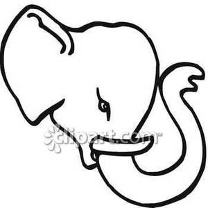 Black And White Elephant Head Royalty Free Clipart Picture Elephant Coloring Page Elephant Face Elephant Head Drawing
