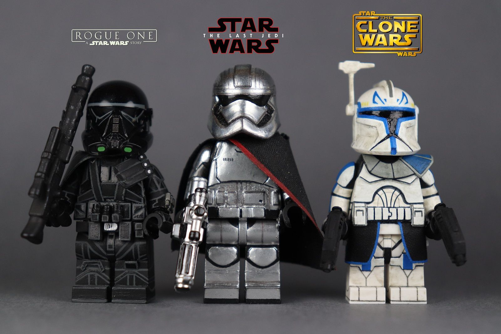 Star Wars Minifigures Darth Vader Yoda Mandalorian Clone Boba Fett Luke Figures