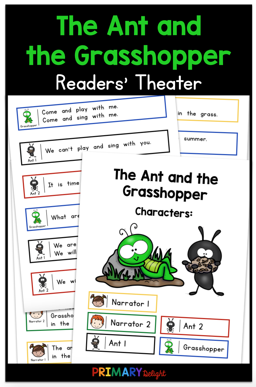 The Ant And The Grasshopper Readers Theater First Grade Reading Readers Theater Teaching Elementary [ 1290 x 854 Pixel ]