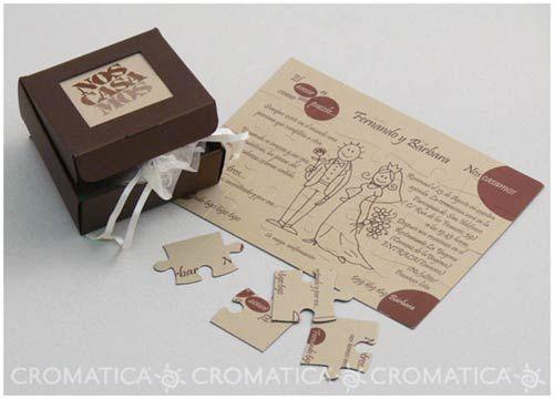 Partecipazioni Matrimonio Alternative.Partecipazione Matrimonio Puzzle Inviti Di Nozze Originali