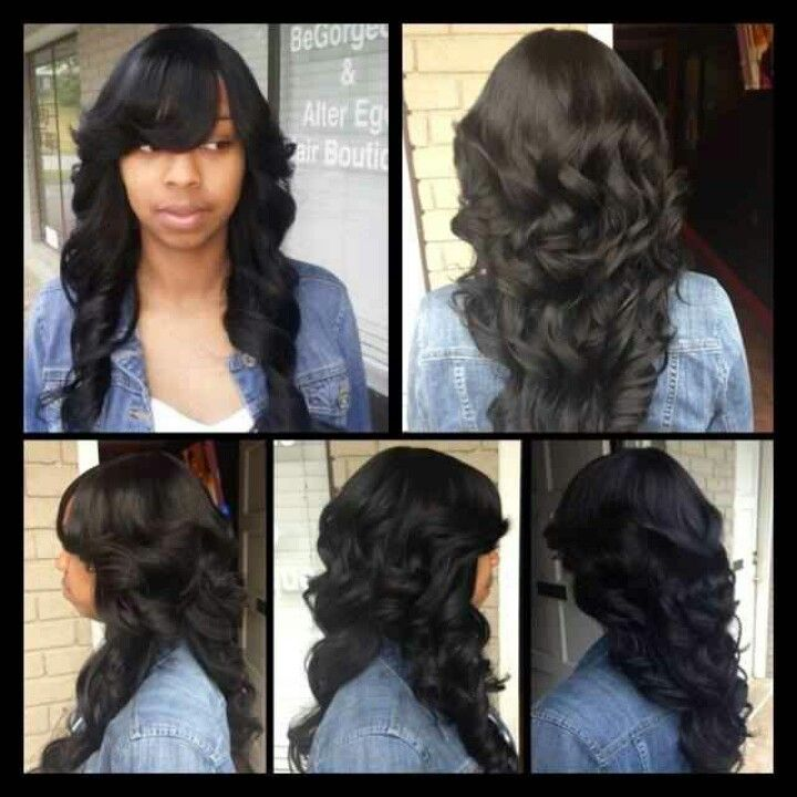 Full Quick Weave With No Hair Out Hair Pinterest Hair