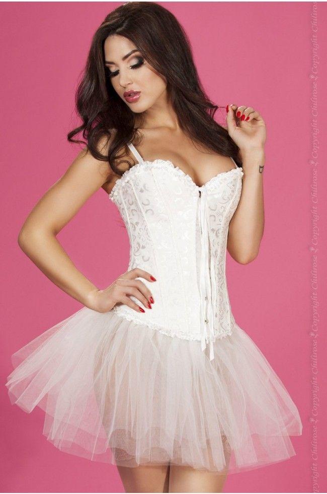vit korsett klänning