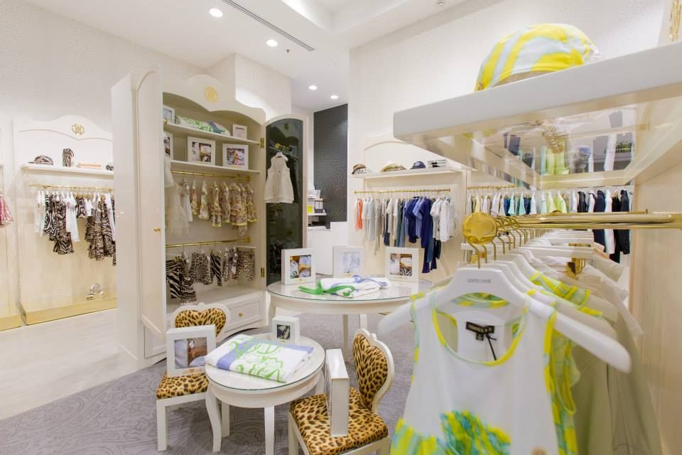 #RobertoCavalli #Junior' opens a #shop in shop in #Dubai #boutiques that looks like a walk-in closet