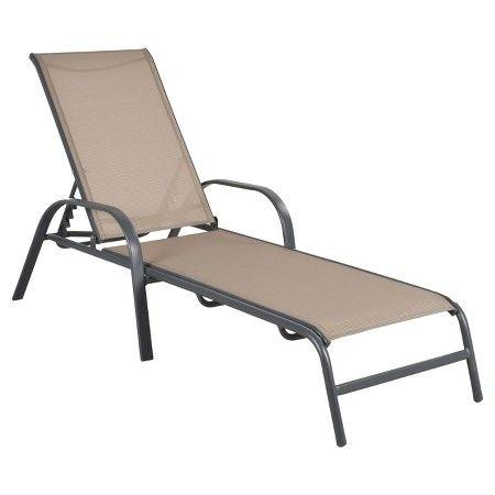 threshold sling folding patio lounger