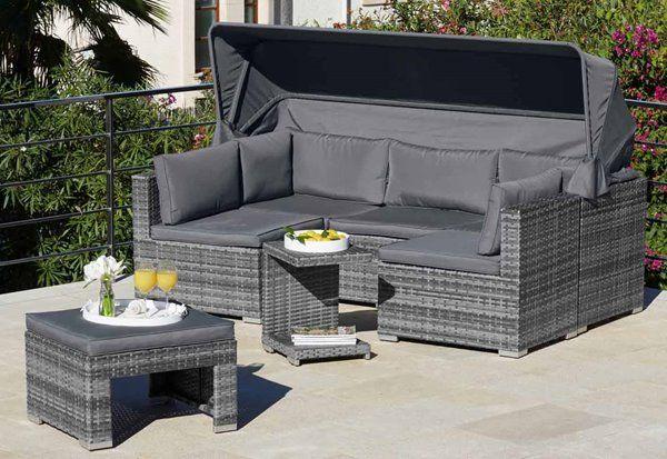 Henryka 5 Piece Exterior Sofa Set Grey Rona