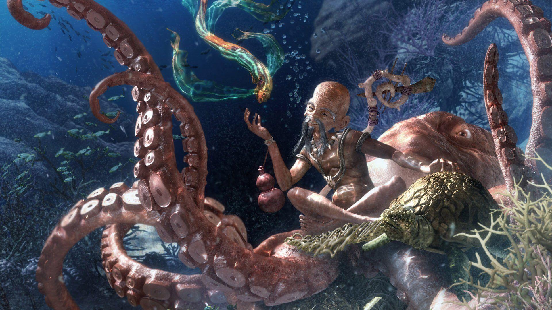 Octopus Wallpaper » WallDevil - Best desktop and mobile wallpapers