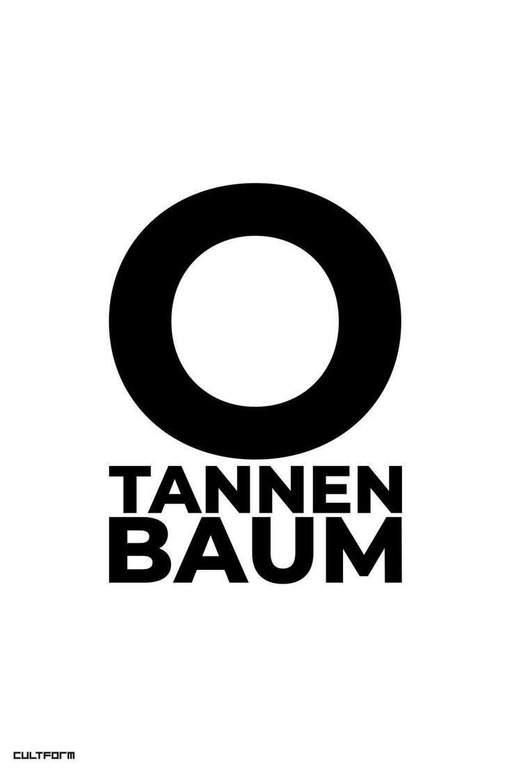 Weihnachtsdeko mit Typografie - zeitlos. in. form. O tannenbaum