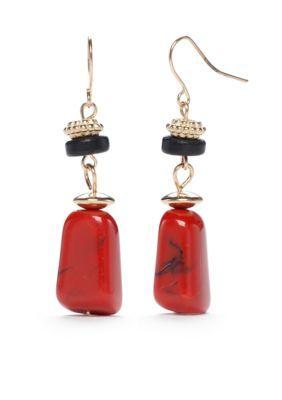 Ruby Rd  Gold-Tone Gypsy Caravan Nugget Drop Earrings