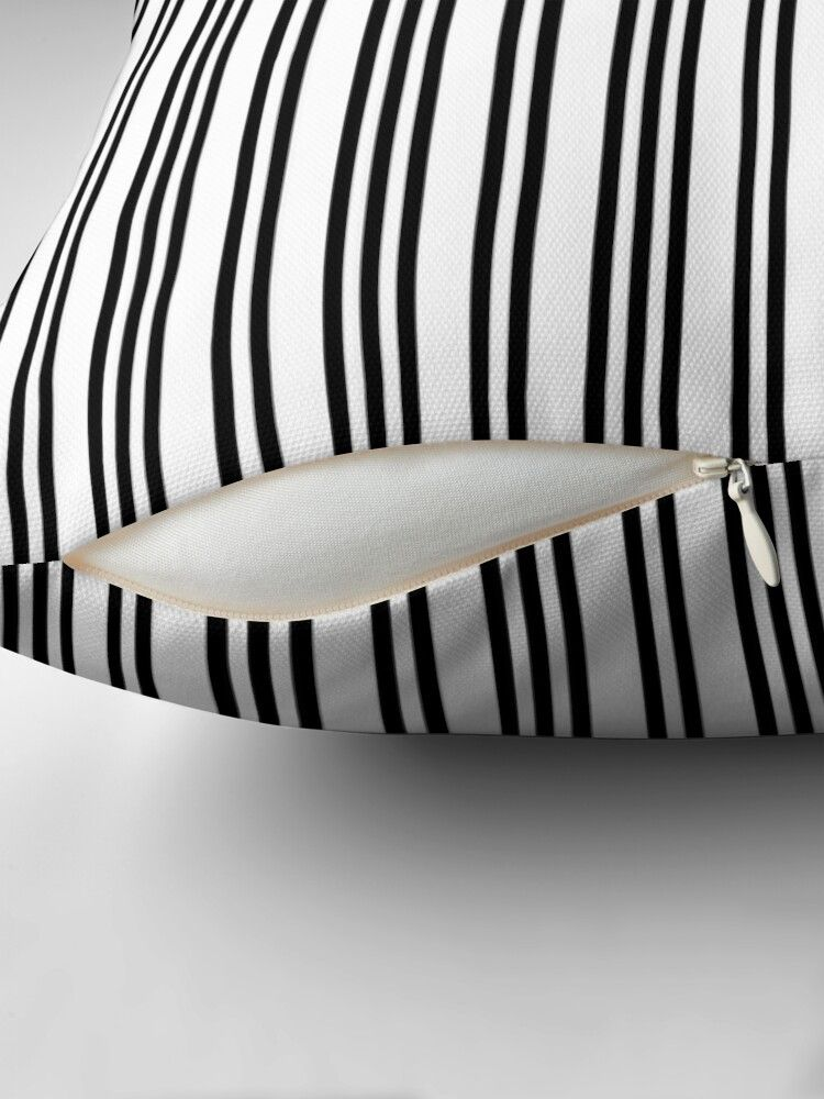 'Black and White Piano Stripes Repeating Pattern' Throw ...