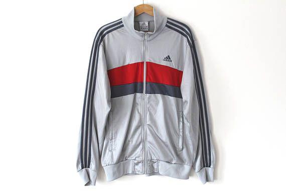 Vintage ADIDAS Windbreaker, Adidas Jacket Hip Hop Grunge