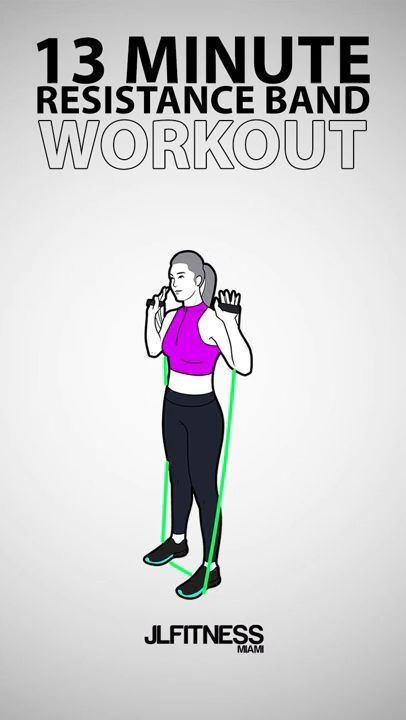 13 Minute Resistance Band Workout - fitness workouts - #Band #Fitness #Minute #Resistance #Workout #...