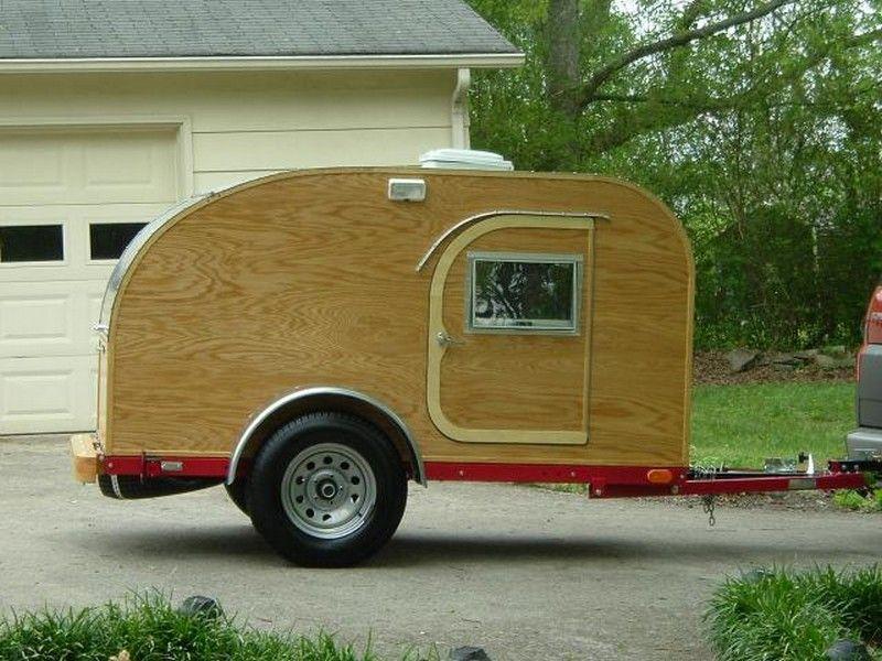 DIY Teardrop Camping Trailer | wood | Pinterest | Parcela y Campamento