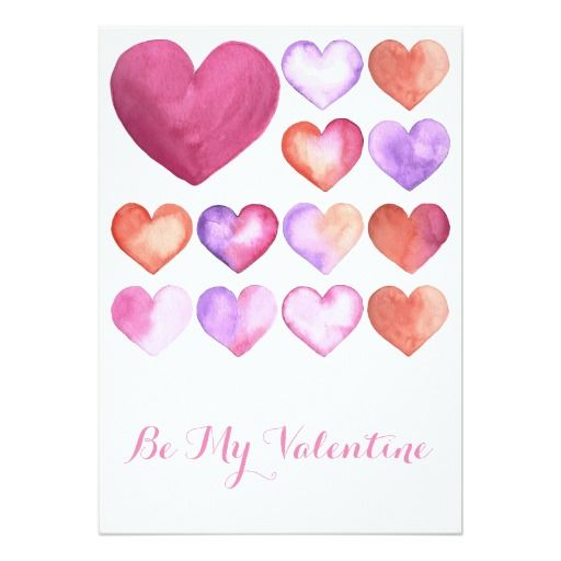 Valentines day card watercolor heart and support small business valentines day card colourmoves