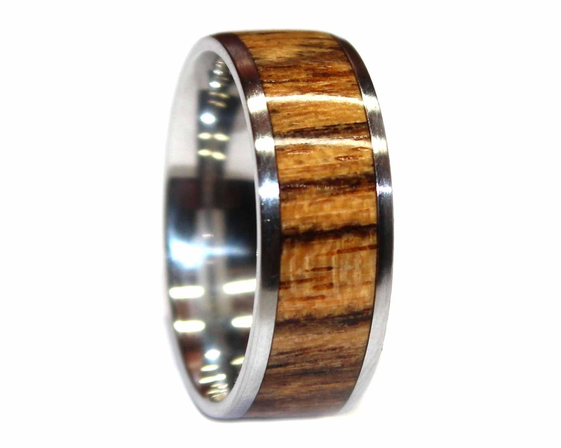 Cocobolo Bocote Mens Wedding Band Unique Mens Ring Engagement RIng Artisian