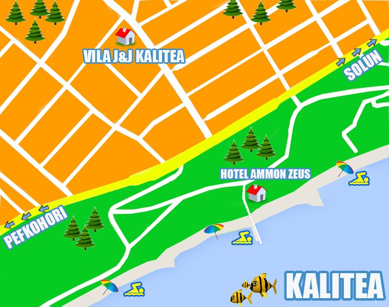 kalitea mapa Mapa Kalitea | Kalitea, Grčka   Halkidiki | Pinterest | Vila kalitea mapa