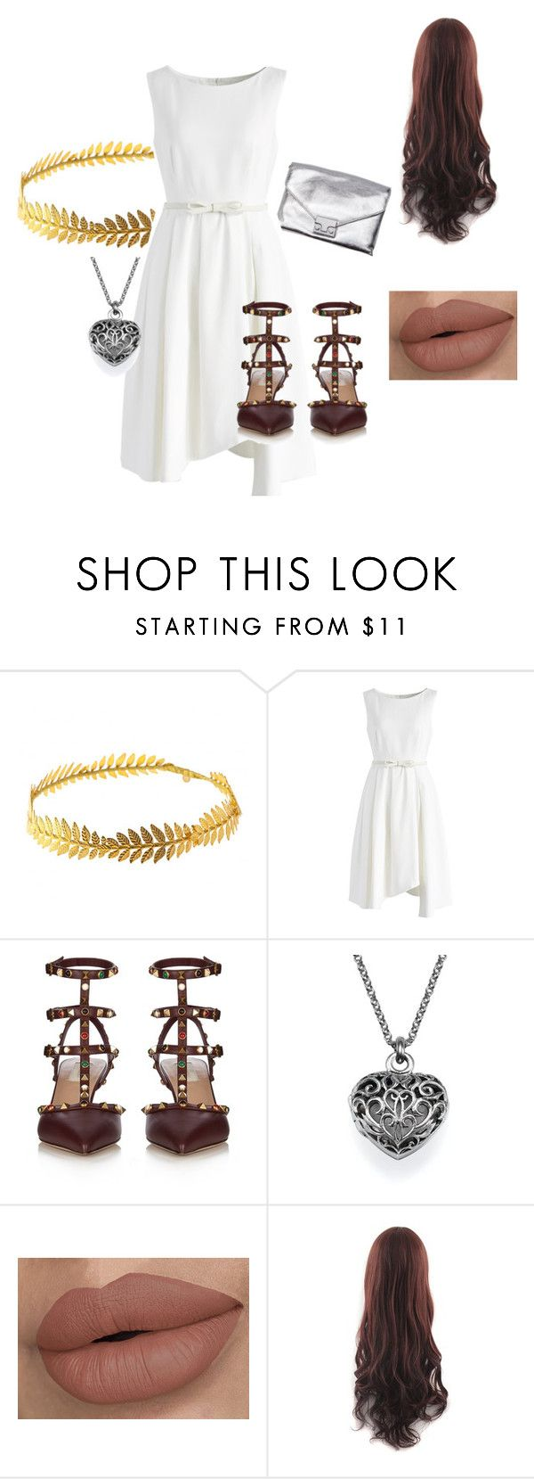 """Muse"" by charlottealison ❤ liked on Polyvore featuring Johnny Loves Rosie, Loeffler Randall, Chicwish and Valentino"