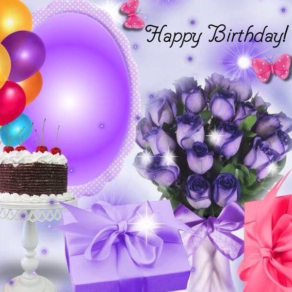 Happy Birthday happybirthday balloons flowers presents cake