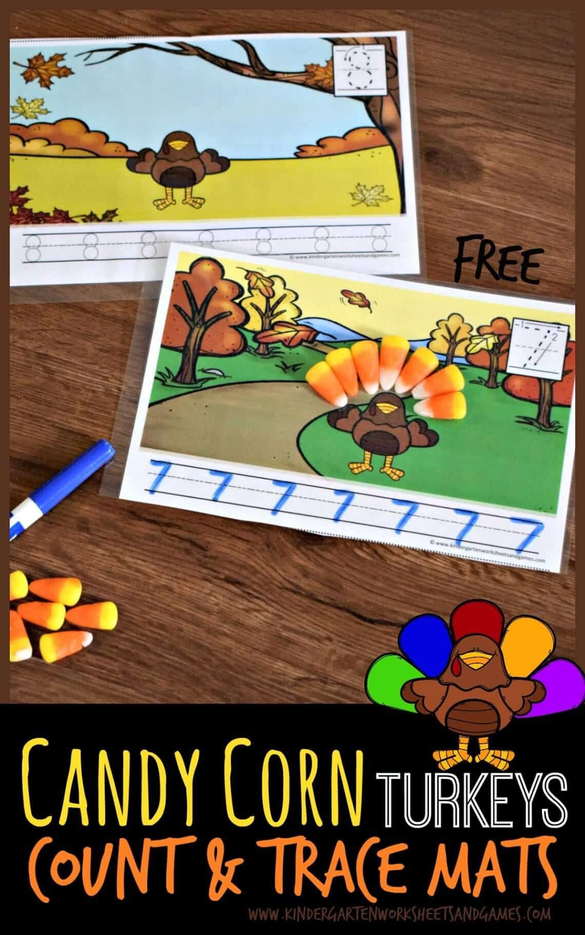 Candy Corn Turkeys Count Amp Trace Mats