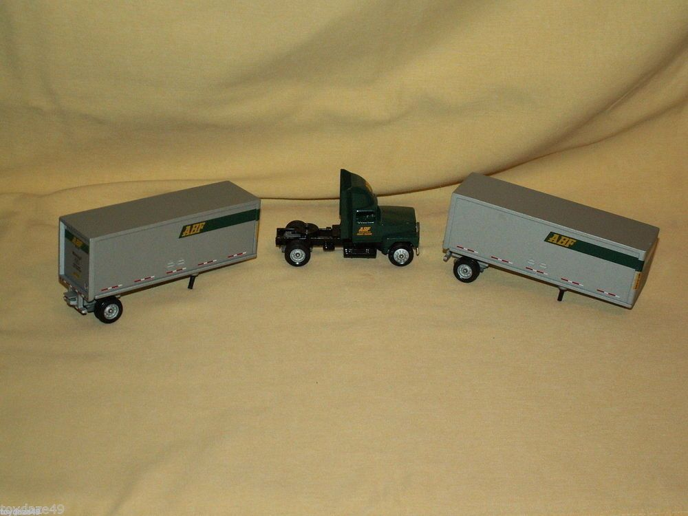 ABF Freight Systems Winross Doubles Semi Tractor Trailer Truck 3 Pc Loose Ford #Winross #