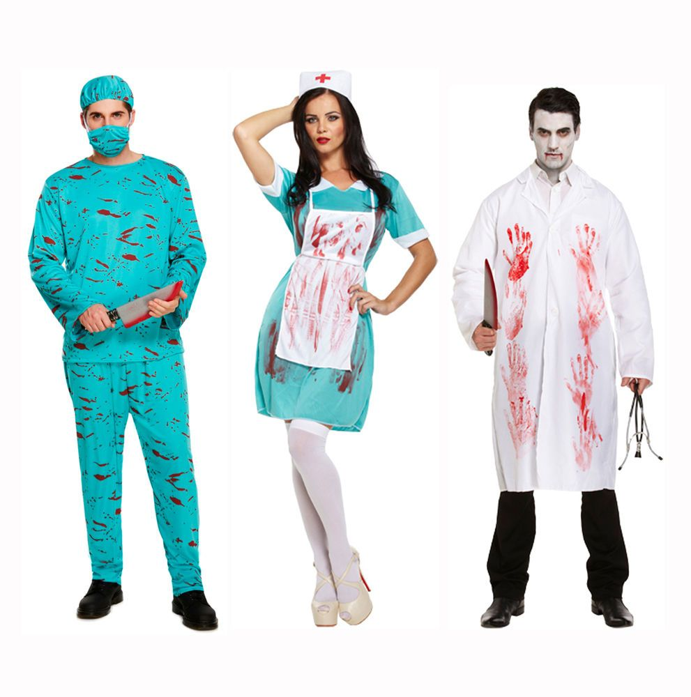072aabce535eb Bloody Zombie Couples Horror Fancy Dress Halloween Costumes Doctor Nurse  Surgeon in Clothes, Shoes & Accessories, Fancy Dress & Period Costume, ...