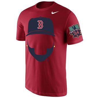 sale retailer 5698e 36e8b Men's Boston Red Sox David Ortiz Nike Red Beard T-Shirt | To ...