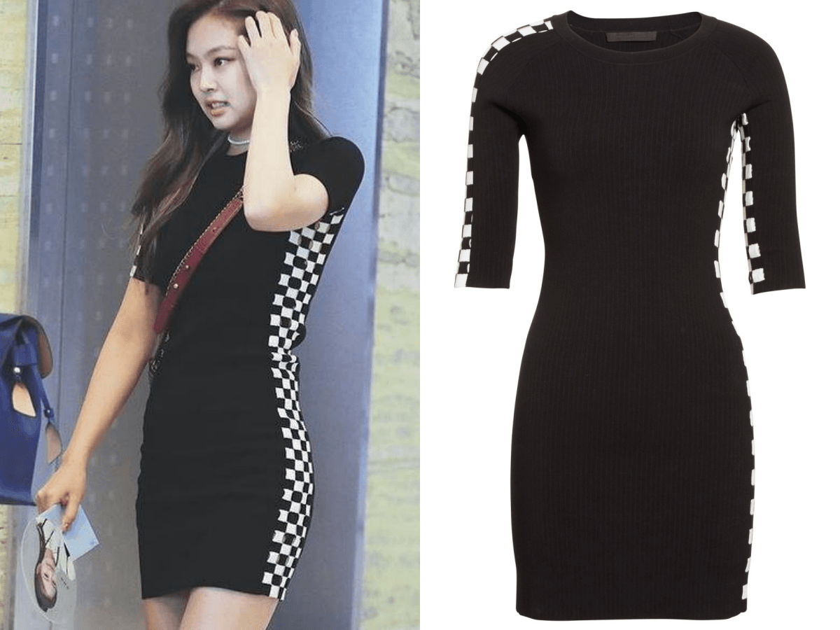 "3476d38ad44b Alexander Wang s ""Intarsia Check Knit Dress"" ( 645)"