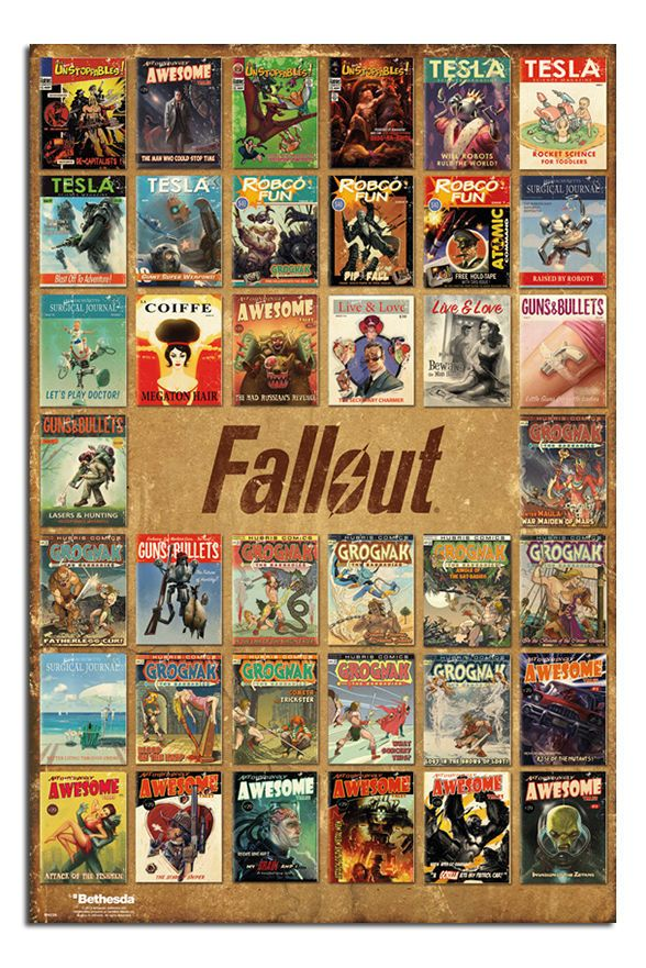 Maxi Size 36 x 24 Inch Fallout 4 Vault Boy Poster New