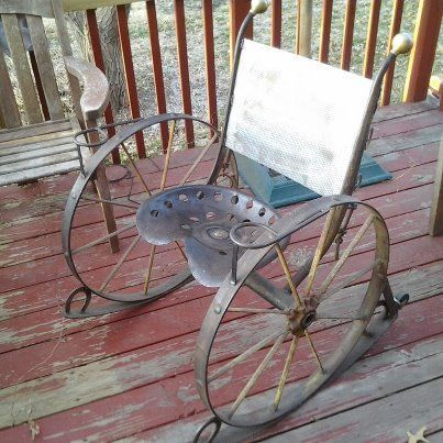 horseshoe rocking chair ashley furniture dining room chairs transform this into steampunk folk art - such imagination! | pinterest ...