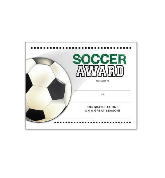 Soccer End of Season Award Certificate free download Soccer - download free certificate templates
