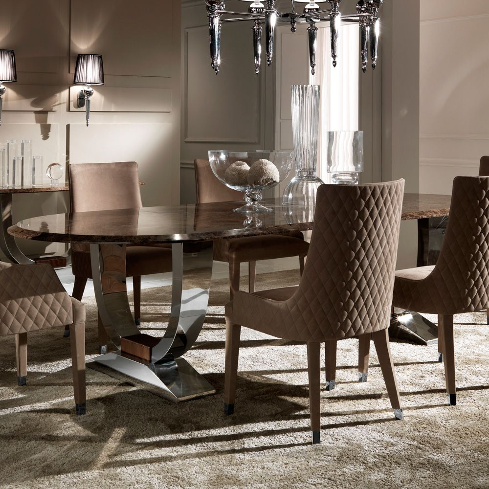 Oval High End Marble Italian Dining Table Set  Marbles Chelsea Best Italian Dining Room Tables Decorating Design