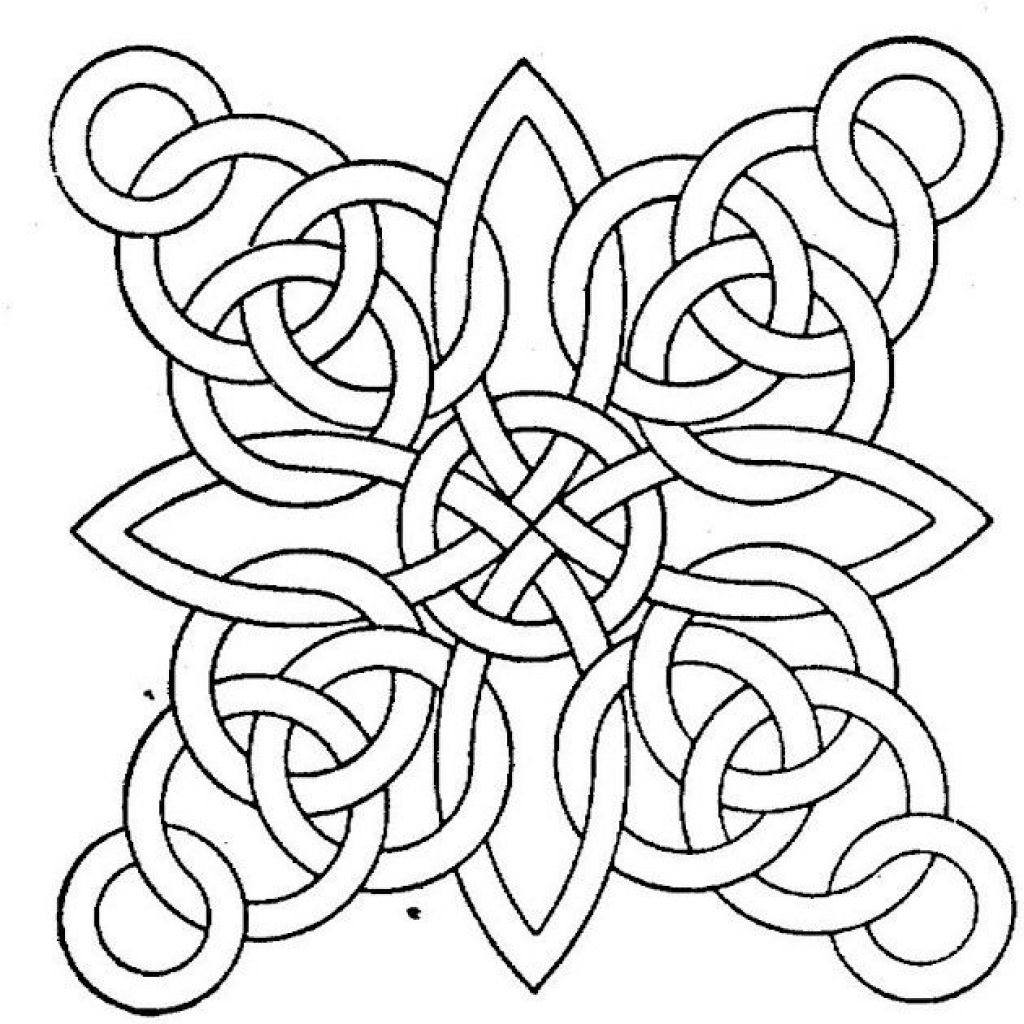 Free Coloring Sheet Online Of Abstract Geometric Pattern -- LOTS OF ...