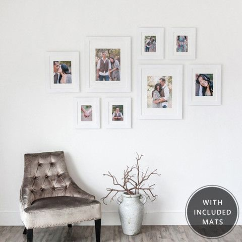 8x10 Wall Frames 2-16x20 frames with 11x14 openings 2 11x14 frames with 8x10 mat