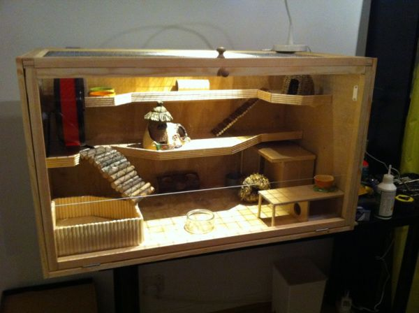 Build Your Own Hamster Cage Photo Guide Diy Hamster House Hamster Cage Hamster House