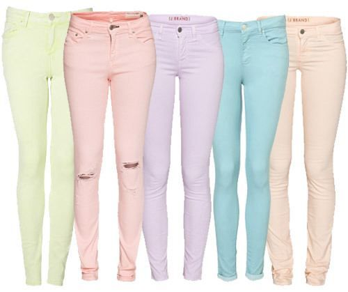 Spring On: Pastels (26 photos) | Them, Pastel and Colored pants