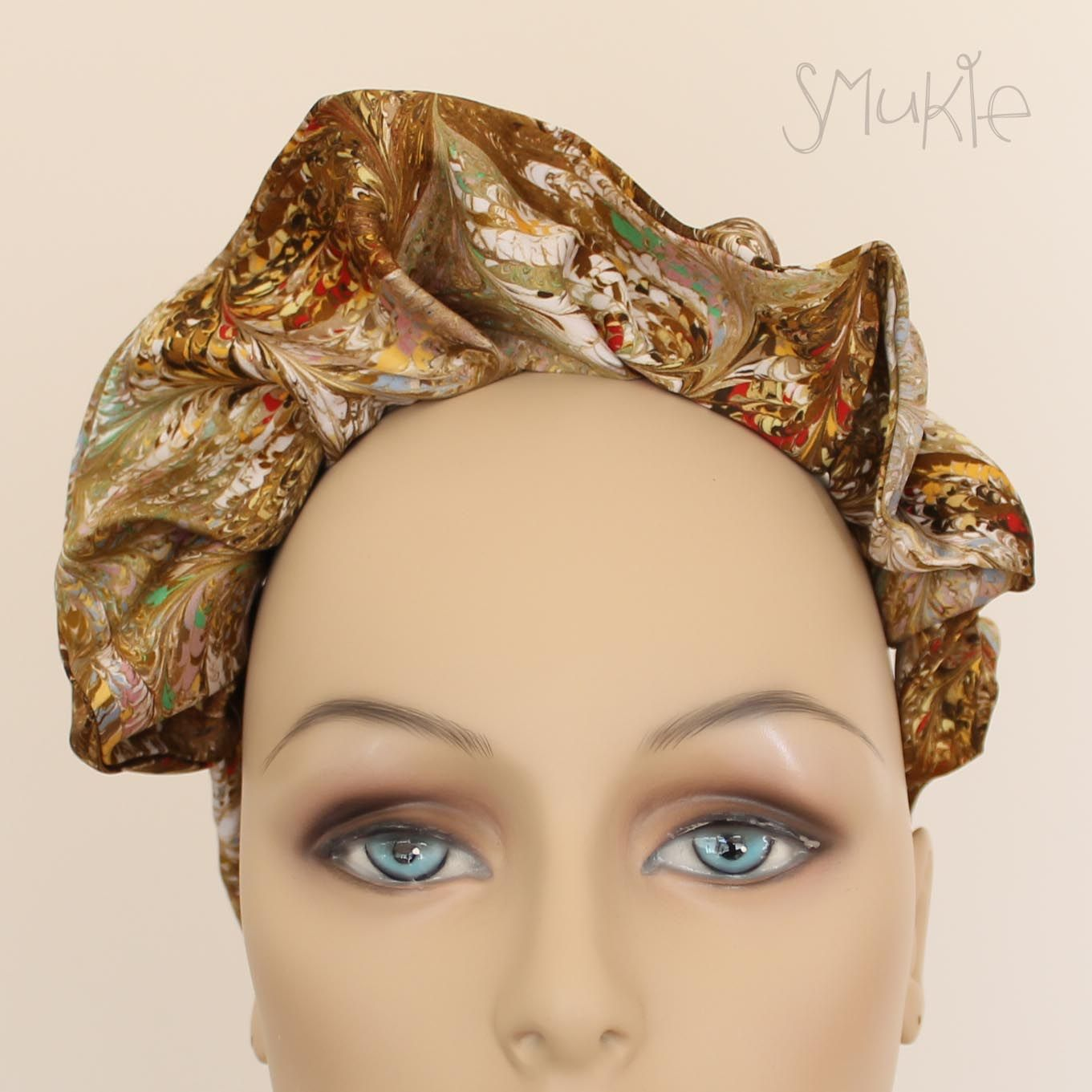 vintage, silk, headband, quirky, accessories, fashion, handmade ...