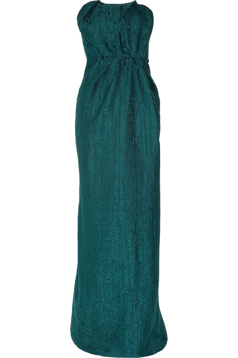 Lanvin rose brocade strapless gown bridesmaids pinterest